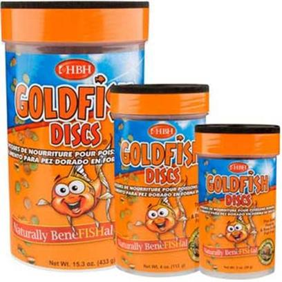 Hb.H. Enterprises Presents Hbh Goldfish Discs 15oz. Goldfish Discs is the Ultimate Goldfish Food; Combining Premium Formulation with Optimal Feeding Delivery. The Disc Shaped Food Sinks Slowly Allowing Optimal Time for your Goldfish to Snatch Up these Delicious Morsels. They are Sized for the Goldfish Mouth so they are Easier to Eat than Pellets but are Much Heartier than Flake. [32004]