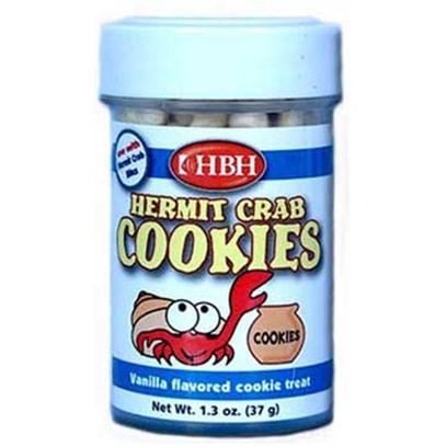 Hb.H. Enterprises Presents Hbh Hermit Crab Cookies 1.3oz. The Ultimate Crab Treat. Hermit Crabs Love the Irresistible Vanilla Flavored Cookies which also Contain Carotinoids to Enhance a Crab's Coloring. 1.0oz [32010]