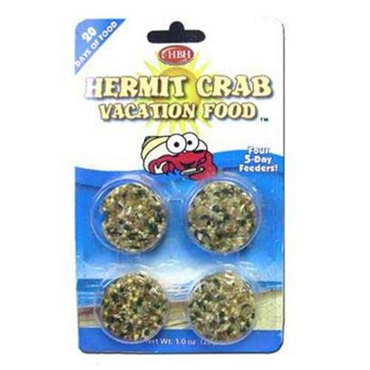 Hb.H. Enterprises Presents Hbh Hermit Crab Vacation Food. For Hermit Crabs. Each Disc Feeds Up to Three Medium-Sized Hermit Crabs for Up to 5 Days, Equaling 20 Days Worth of Food! For Ultimate Convenience, Use as a Staple Diet. .8oz [32012]