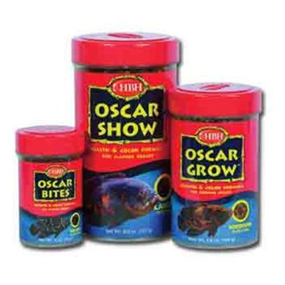 Hb.H. Enterprises Presents Hbh Oscar Bites .98oz. Floating/Sinking Pellet Formula Specifically Developed for the Natural Feeding Habits of Oscars. Oscar Bites is a Micro-Pellet for all Juvenile Oscars that Contains Extra Fat and Protein for Rapid Growth. Oscar Grow is a Mid-Size Pellet for Fast Growing Oscars as they Become Adults. Oscar Show Cuts Down on the Fat and Protein for Mature Oscars while Providing a Carotenoid-Boosted Diet to Maintain Bright Colors. 1.0oz [32014]
