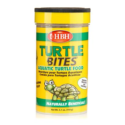 Hb.H. Enterprises Presents Hbh Turtle Bites 4.4oz. Turtle Food Containing a Special Shell-Conditioning Formula, Fortified with Calcium, and Vitamins a &amp; D to Support Healthy Shell Developmentand Overall Turtle Health. 5.4oz [32028]