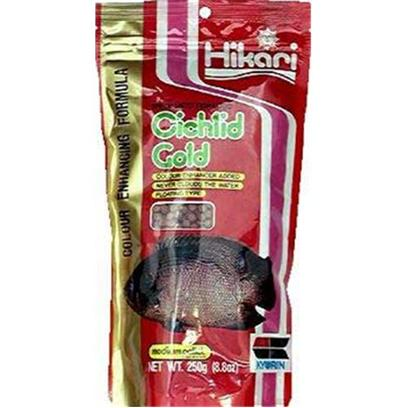 Hikari Usa Presents Hikari Cichlid Gold 8.8oz-Mini Pellet. Hikari Cichlid Gold Contains Special Color Enhancers Designed to Bring out the Natural Beauty and Proper Form of Cichlids and Other Larger Tropical Fish. We Utilize the Highest Grade of Ingredients Formulated in Exacting Quantities to Produce a Food that will Bring the Brilliant Colors of your Fish to Life! [32046]