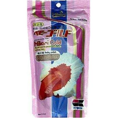 Hikari Usa Presents Hikari Goldish 3.5oz Baby 3.5oz-Baby Pellet. Hikari Goldfish Gold Baby Pellet is Specially Formulated to Bring out the Vibrant Colors in Goldfish and Baby Koi. Rich in Carotene, an Easily Assimilated Color Enhancer, Goldfish Gold Starts your Pet off Right During that all Important First Year. The Carefully Balanced Nutrients and Vitamins will Keep your Aquatic Pet Healthy and Full of Energy. After only a Short Time Feeding Hikari Goldfish Gold, your Goldfish or Baby Koi will Begin to Look their Best! [32061]