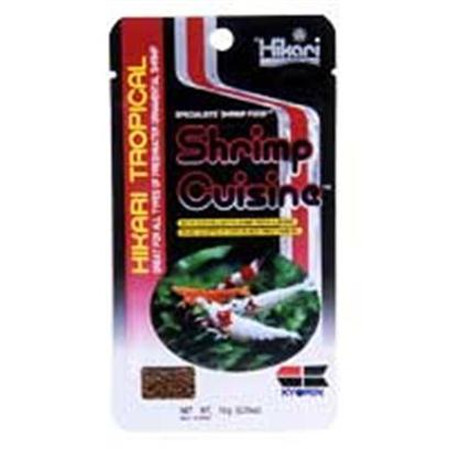 Hikari Usa Presents Hikari Shrimp Cuisine .35oz-10gm. Aunique Formulation for Fancy and Exotic Shrimp Rich in Vegetable Matter Herbivorous Shrimp Prefer and Require. Contains Higer Levels of Seaweed and Spirulina for Growth and Color. Offeres the Proper Mineral Profile to Encourage Proper Ecdysis (Moulting). Contains Copper for Blood Regeneration. .35 Oz (10 Grm) [32074]