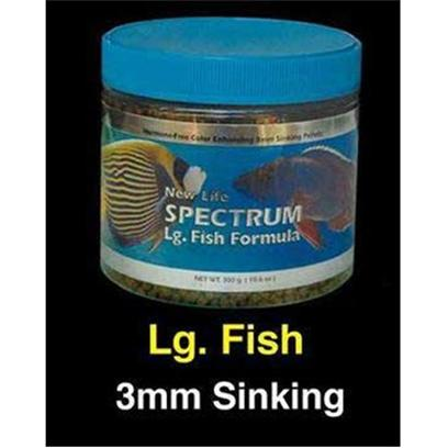 New Life International Presents Nls Large Fish Sinking Spectrum Formula 600gm. New Life Spectrum Food is Made with High-Quality Easily Digestible South Antarctic Krill, Herring, Squid, and New Zealand Mussel Protein, and Several all-Natural Color-Enhancing Ingredients for a Balanced Diet that Boosts Immune System Function and Enhances the Full Spectrum of your Fish's Color. With the Belief that all Fish Require a Complete and Fully Balanced Varied Diet, New Life also Contains Algae Meal, that Consists of Seaweed, Kelp, and Haematococcus Pluvialis (a Micro Algae), a Premium Grade of Natural Spirulina, as Well as a Fruit &amp; Vegetable Extract that Consists of Spinach, Red &amp; Green Cabbage, Peas, Broccoli, Red Pepper, Zucchini, Tomato, Kiwi, Apricot, Pear, Mango, Apple, Papaya, and Peach. All New Life Spectrum Products also Contain a Generous Inclusion Rate of Garlic (Allium Sativum) with the Thera-a Formulas Containing a Mega-Dose of this Natural Anti-Parasitic Ingredient. All Ingredients Used are Almost Identical, Since we Cannot Find Anything Better than what we are Using. However, the Crude Analysis will be Different Due to the Percentage of Ingredients Incorporated into a Specific Formula. Typical Ingredients Whole Antarctic Krill Meal, Whole Herring Meal, Wheat Flour, Whole Squid Meal, Algae Meal, Soybean Isolate, Beta Carotene, Spirulina, Garlic, Vegetable and Fruit Extract (Spinach, Broccoli, Red Pepper, Zucchini, Tomato, Pea, Red and Green Cabbage, Apple, Apricot, Mango, Kiwi, Papaya, Peach, Pear), Vitamin a Acetate, D-Activated Animal-Sterol (D3), Vitamin B12 Supplement, Thiamine, Dl Alphatocophero ( E ), Riboflavin Supplement, Folic Acid, Niacin, Biotin, Calcium Pantothenate, Pyridoxine Hydrochloride, L-Ascorby-2-Polyphosphate (Stable C), Ethylenediamine Dihydroiodide, Cobalt Sulfate, Copper Proteinate, Ferrous Sulfate, Manganese Sulfate, Choline Chloride. 3mm Size Pellet Freshwater or Saltwater Use [32144]