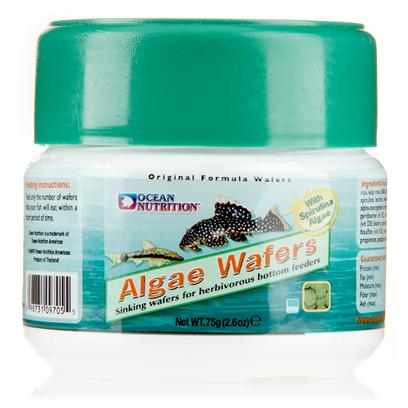Ocean Nutrition Presents Onutr Algae Wafers 75 Gram. Algae Wafers are an Easily Digestible, Highly Palatable Sinking Food for Herbivorous Bottom Feeding Fish.Algae Wafers are a Balanced Blend of all the Minerals, Vitamins and Proteins Needed for Healthy Development. Algae Wafers are Specially Fortified with Spirulina Algae, and are Formulated with the Finest Ingredients Making them Easy to Eat and Easy to Digest. [32190]