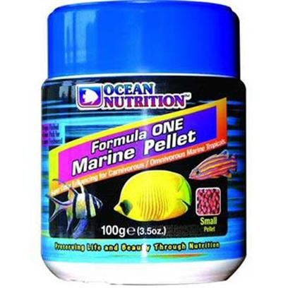 Ocean Nutrition Presents Onutr Form1 Marine Pellets Formula 1 'Small Pellet' - 100 Gram. Freshwater and Marine. A Perfect Soft and Moist Pellet Packed in Nitrogen Flushed Foil Bags for Maximum Freshness. Main Characteristics are Increased Palatability and Easy Digestion. Contains Garlic to Aid in Disease Resistance, Krill for Color Enhancing and Fresh Seafood as Well as Shrimp, Plankton and Spirulina. Red in Color it has a High Protein Content. This Food is Intended for Carnivorous and Omnivorous Fish in Both Freshwater and Marine Environments. Comes in Small and Medium Pellet Sizes. Use Medium for Fish that are Four Inch Long and More. [32206]