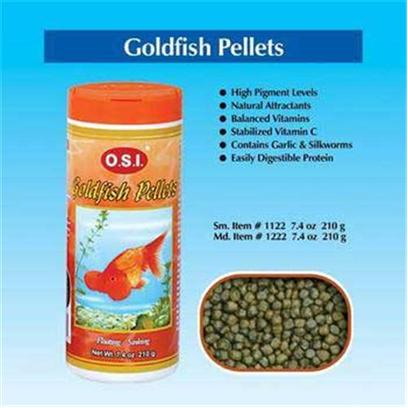 Ocean Star International Presents Ocean Star International (Osi) Pellets Goldfish Medium-6.69oz. Goldfish are Less Active than Other Types of Fish. They also have Stomachless Digestive Systems. Therefore, O.S.I Developed its Goldfish Pellets with Less Protein and Fat and More Plant Fiber than Other Diets to Keep Fish Weight Down and Digestive Tracts. [32239]
