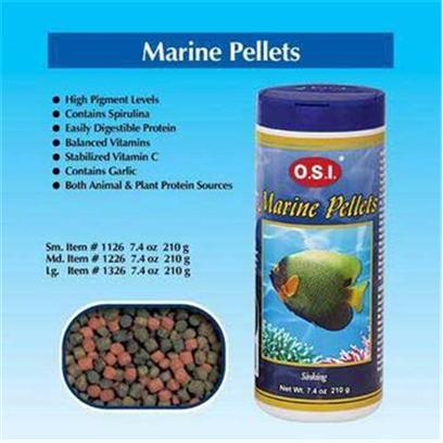 Ocean Star International Presents Ocean Star International (Osi) Pellets Marine 6.69oz-Large. O.S.I. Marine Ocean Stars Pellets are a Sinking Pellet Diet Designed with High Levels of Marine Protein and Fats to Mimic what Marine Fishes Eat in Nature. Extra Color-Enhancing Pigments and Spirulina are Added to Maintain your Fishes Bright Colors. A Full Compliment of Vitamins are Included to Keep your Fish Healthy. Marine (also Referred to as Saltwater) Fishes are the Most Delicate Species Kept in the Aquarium Hobby. They Require Good Sources of Marine Protein and Higher Levels of Unsaturated Fatty Acids. O.S.I Marine Pellets are Specially Formulated to Incorporate High Levels of Marine Plant Proteins, Animal Proteins and Appropriate Fat Levels. Natural Color-Enhancing Pigments, Spirulina and all Vitamins Necessary to Meet the Special Needs and Requirements of Marine Fishes are also Included. [32244]