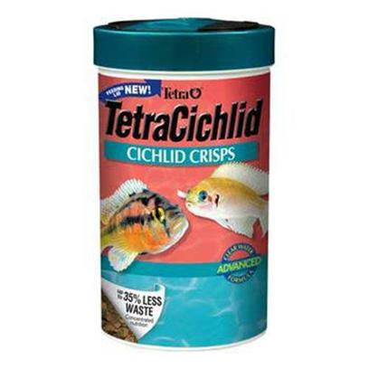 Tetra Usa Presents Tetra Cichlid Crisps 3.28oz. The Ultimate in Fish Nutrition, Formulated Specifically for Cichlids. Crisps are Half Green (Concentrated Algae Extract) and Half Beige (Cichlid Staple). The Food Offers all of the Crisps' Benefits and a Higher Vegetable Content -- Ideal for Top and Mid-Water Feeding Cichlids. [32266]