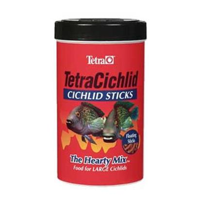 Tetra Usa Presents Tetra Cichlid Sticks 6.61lb Bucket. Cichlid Sticks Provide Large, Top-Feeding Cichlids the Hearty Diet and Nutritional Requirements they Need. The Sticks Float on Water for Easy Access to all Medium and Large Top-Feeding Fish, Including Such Favorites as Firemouths and Convicts. Large Freshwater and Marine Fish also Feed Well and Get Nutritional Requirements from this Floating Diet. [32269]