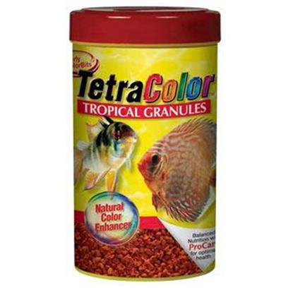 Tetra Usa Presents Tetra Color Bits 10.58oz. Want to Bring out the Beautiful Colors of your Larger Tropicals? Colorbits Tropical Granules are Designed for Larger Fish Such as Discus and Angelfish. In Addition, these Slow-Sinking Granules Bring Color Enhancing Nutrition to the Bottom Feeders. Vitamin C Enriched. [32274]