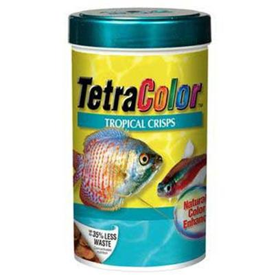 Tetra Usa Presents Tetra Color Tropical Crisps 1.34oz. The Ultimate in Fish Nutrition with Additional Color Enhancement. Crisps with a Concentrated Color-Enhancing Center. Promotes the Fish's Naturally Intense Colors. Perfect as a Supplement to Tetramin Tropical Crisps. Low Waste, Color-Enhancing Crisps Produce 35% Less Waste than Other Diets. More Usable Food Means Clearer Water and Healthy Fish. Crisps Won't Cloud Water when Used as Directed. [32278]