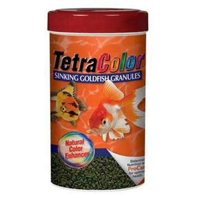 Tetra Usa Presents Tetra Colorfin 3.52oz Goldfish Food. Bring out the Striking, Beautiful Colors of your Goldfish with Colorfin Sinking Granules. This Diet Enhancer is the Perfect Supplement to your Goldfish's Primary Diet. The Granules are Sized for all Types of Goldfish and Contain Spirulinamaxima Algae for the Development of Vibrant Colors. Available in 3.52oz, 250ml Container [32280]
