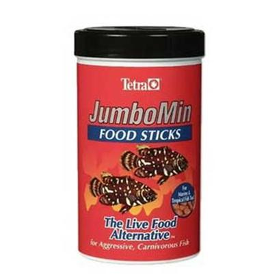 Tetra Usa Presents Tetra Jumbo Min Jumbo-Min 7.4oz. These Floating Sticks are an Excellent Alternative to Messy Live Foods for Aggressive, Carnivorous Fish. The Formula Features a High Percentage of Dried Krill and Shrimp, and is Ideal for Large Cichlids Such as Oscars, Green Terrors, Dempseys, Piranhas, Arowanas as Well as Marine Fish Such as Lionfish, Triggerfish, Angels and Groupers. Jumbomin Sticks Contain Natural Attractants and Carotenoids to Promote Color Development in Natural Pinks and Orange-Red. [32285]