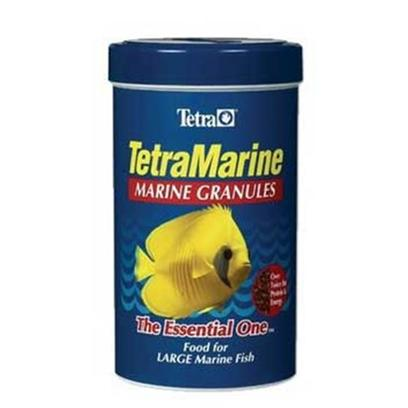 Tetra Usa Presents Tetra Marine Granules 7.94oz Doro-Marin. Perfect for Large Marine Fish, these Slow-Sinking Granules are Easier for Large Fish to Eat. This Food is also Suitable for Many Marine Crustaceans and Anemones. Available in 7.94oz, 500ml Container [32287]