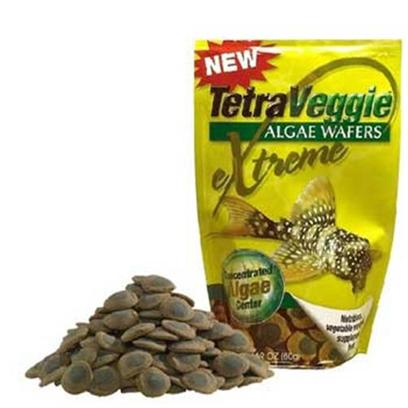 Tetra Usa Presents Tetra Veggie Wafers Tetraveggie 2.12oz 100ml. Even Fish Need their Veggies! Now Tetra is Offering Alternatives to Give your Fish Healthy Vegetable Variety, New Tetraveggie Algae Wafers. Concentrated Algae Center Made Possible by State-of-the-Art Extrusion Technology. All Vegetable, Large Size Wafer is Ideal for Sucker Mouthed Catfish Like the Plecostomas. Easily Digested Wafers are High in Fiber. Contains Patented Health Enchancing 'Procare'. This Precise Blend of Immunostimulants, Vitamins, Biotin Supplement and Omega-3 Fatty Acids Help Strengthen Fish's Immunity and Improves Resistance to Disease and Stress. Resealable Bag can be Pegged or Shelved at Retail Available in 3 Sizes [32303]