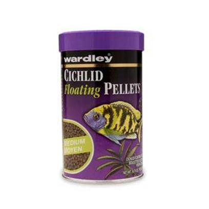 Wardley Presents Ward Cichlid Pellet 17.75oz Medium (Md) 10 Pellets-Medium. Wardley(R) Premium Cichlid Floating Pellets(Tm) is a Nutritionally Balanced Diet for Herbivorous and Carnivorous Cichlids. Wardley(R) Premium Cichlid Floating Pellets(Tm) Contains Astaxanthin, a Superb Color Enhancer that Brings out Vibrant Red, Yellow, and Orange Hues. Fortified with a Stabilized Form of Vitamin C, Essential for Rapid Repair of Body Tissue and Enhanced Disease Resistance. 16.75 Oz. Canister; (475g) [32309]
