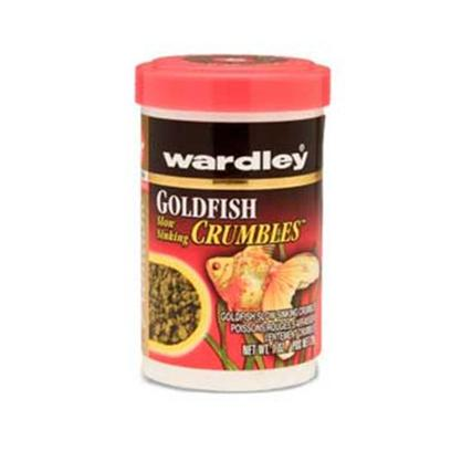 Wardley Presents Ward Goldfish Crumbles 1oz 6pc Bites (6pc). Wardley(R) Premium Goldfish Slow Sinking Crumbles(Tm) Allows for Feeding at the Surface, Midwater and Bottom of the Tank. This Uniquely Shaped Food is Formulated for all Goldfish. Conveniently Packaged in Canisters and Resealable Pouches. 1 Oz.; (28g) [32310]