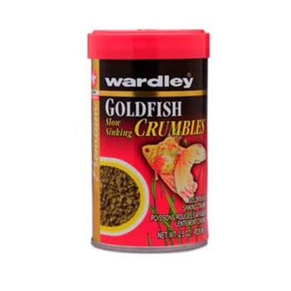 Wardley Presents Ward Goldfish Crumbles 2.5oz Bites. Wardley(R) Premium Goldfish Slow Sinking Crumbles(Tm) Allows for Feeding at the Surface, Midwater and Bottom of the Tank. This Uniquely Shaped Food is Formulated for all Goldfish. Conveniently Packaged in Canisters and Resealable Pouches. 2.5 Oz.; (71g) [32311]