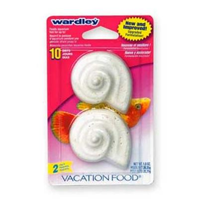 Wardley Presents Ward Vacation Shell-2pk X 7pc Original Feeder Shells-2pk. Each Shell of the Wardley(R) Vacation Food(R) Feeds Aquarium Fish Automatically for Up to 10 Days. Value Pack ; 1 Oz. [32323]
