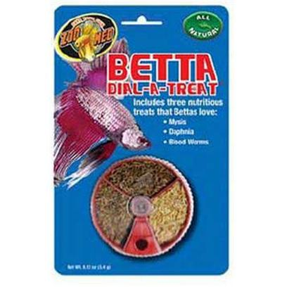 Zoo Med Laboratories Presents Zoo Betta Dial-a-Treat .12oz Medium (Med) Food. Includes Three Nutritious Treats that Bettas Love Mysis Daphnia Blood Worms [32334]