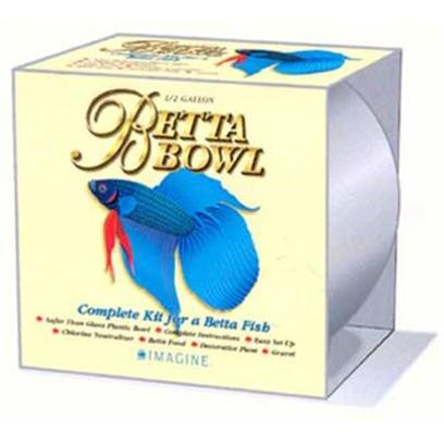 Imagine Gold Presents Imagine Gold (Img) Betta Bowl Kit 1/2gal 1/2gallon. Gallon Betta Bowl - 6 Pc [32352]