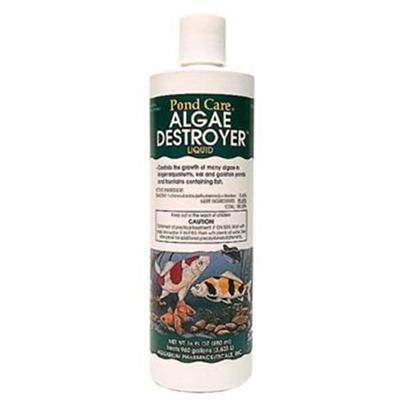 Aquarium Pharmaceuticals Presents Aquarium Pharmaceuticals (Ap) Pond Algae Destroyer 16oz. (Algaecide) New Formula Effectively Controls Many Types of Green or Green Water Algae, String or Hair Algae and Blanketweed in Ponds that Contain Live Plants. Controls Existing Algae and Helps Resolve Additional Algae Blooms. Keeps Ornamental Ponds and Water Gardens Clean & Clear. [32585]