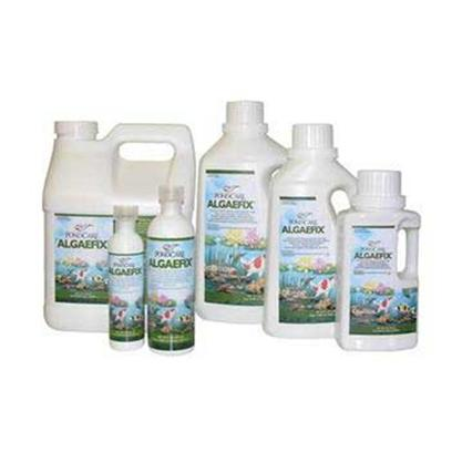Aquarium Pharmaceuticals Presents Aquarium Pharmaceuticals (Ap) Pond Algae Fix 32oz. (Algaecide) Effectively Controls Many Types of Green or Green Water Algae, String or Hair Algae and Blanketweed in Ponds that Contain Live Plants. Controls Existing Algae and Helps Resolve Additional Algae Blooms. Keeps Ornamental Ponds and Water Gardens Clean &amp; Clear. [32589]