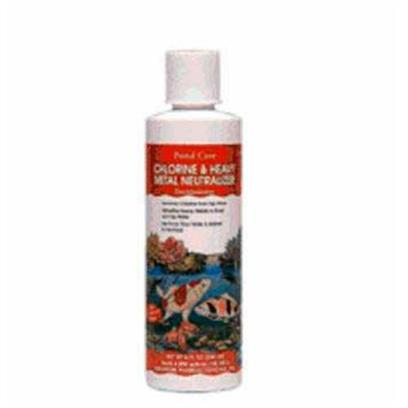Aquarium Pharmaceuticals Presents Aquarium Pharmaceuticals (Ap) Pond Chlorine Neutral 8oz. Dechlorinator Instantly Neutralizes Chlorine, Copper, Lead and Zinc, as Well as Other Heavy Metals Found in Tap and Well Water, all of which may be Toxic to Fish and Plants. Use when Setting Up a Pond or Changing Pond Water. One Ounce Treats 600 us Gallons of Pond Water. 8 Fl. Oz. Bottle (237 Ml) Treats 4,800 us Gal (18,170 L) 10 Oz. [32600]