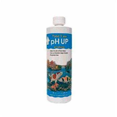 Aquarium Pharmaceuticals Presents Aquarium Pharmaceuticals (Ap) Pond Ph Up 16oz. Ph Adjuster for Ponds Slowly Neutralizes Acidic Substances that Cause Low Ph (Ph of Pond Water is Affected by Mineral Leaching, Soil Runoff &amp; Decomposing Waste). A Low Ph can Stress Pond Fish &amp; Suppress the Activity of the Biological Filter. Contains no Algae-Promoting Phosphates. 16 Fl. Oz. Bottle (473 Ml) Treats 4,800 us Gal (18,170 L) 19 Oz. [32618]