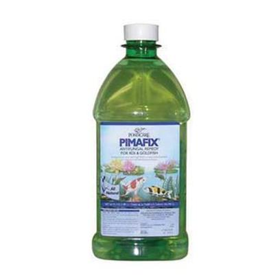 Aquarium Pharmaceuticals Presents Aquarium Pharmaceuticals (Ap) Pond Pimafix Liquid 16oz. For the Treatment of Fungal Infections in Freshwater and Saltwater Fish. Rapidly Treats Fungal Infections on Body and Fins. Pimafix Uses the Antifungal Power of Pimenta Racemosa (West Indian Bay Tree) for the Treatment of Fungal Infections in Freshwater and Saltwater Fish. Rapidly Treats Fungal Infections on Body and Fins. Inhibits the Development of Resistant Strains of Disease-Causing Organisms 64 Fl. Oz. Bottle (1.89 L) Treats Up to 9,600 us Gal (36,340l) 4.5' X 4.5' X 10' 4.6 Lb [32623]