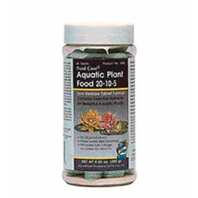 Aquarium Pharmaceuticals Presents Aquarium Pharmaceuticals (Ap) Pond Plant Food Tabs 60. Potted Plant Fertilizer Tablets Contain Iron for Lush Green Growth &amp; Boron to Promote Flower Formation. Keeps Water Lilies Blooming all Season Long. Stimulates Lush Foliage &amp; Beautiful Blooms of all Aquatic Pond Plants (Hardy &amp; Tropical Plants and Marginal &amp; Bog Plants). The Tablets Come in a Re-Sealable Pouch N/a 11 Oz. [32624]