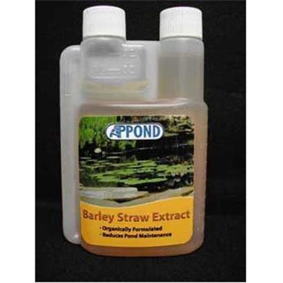 Aquarium Presents Aqprod Pond Barley Extract Ap Straw 16oz (Dosing Bottle). Appond Barley Straw Extract is an Organically Formulated Extract of Barley Straw to Help Promote Cleaner Clearer Water and Reduce Pond Maintenance. It has all of the Benefits of Bales of Barley Straw, but Starts to Work Instantly and without the Messy Clean Up! The Long Lasting Formula is Safe and Non-Toxic for Plants, Fish, and all Wildlife. One Ounce of Appond Barley Straw Extract Treats 750 Gallons on a Maintenance Basis. 16 Ounce [32642]