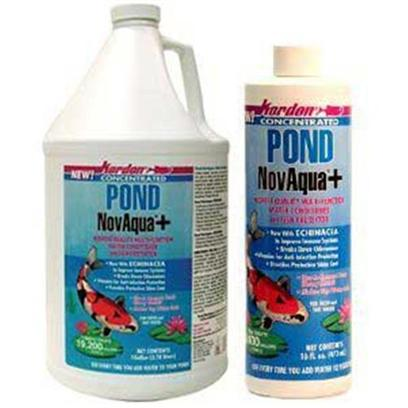 Kordon/Oasis Presents Kord Pond Novaqua Plus 16oz (32694). Pond Novaqua+ is the New Generation of Novaquas, it is the Latest Stage of Technological Development in Water Conditioners for Aquariums. Pond Novaqua+ is the Most Effective of the Tap Water Conditioners for Benefiting Aquatic Life, but it Goes Far Beyond That. Pond Novaqua+ Provides, in a Single Product, Everything Necessary to Handle all of the Needs when Treating Tap Water for Aquatic Life (Except Nitrogen Compound Removal). For the Removal of Toxic Nitrogen Compounds Ammonia/Ammonium, Nitrites, Nitrates Use Kordon's Amquel+. Pond Novaqua+ is Recommended to be Used with Amquel+, with which it is Fully Compatible. [32694]