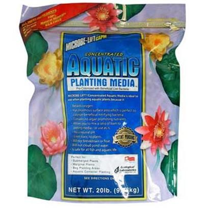 Ecological Labs (Microbe-Lift) Presents Concentrated Aquatic Plant Media 20lb. Pre-Colonized with Beneficial Bacteria! All Inert Ingredients! No Fertilizer, Compost, Peat or Pesticides! 100% Natural Minerals! Kiln Fired! Ideal when Potting Aquatic Plants Retains Oxygen Enormous Surface Area Perfect to Colonize Beneficial Nitrifying Bacteria Allows Mixing any Ratio of Loam to Planting Media Nontoxic to Plants will not Break Down, Float or Cloud Pond Water Safe for all Fish and Aquatic Life Contains no Nutrients [32708]