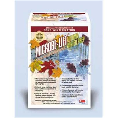 Ecological Labs (Microbe-Lift) Presents Mic Autumn Preparation Kit-Quart Quart. Specially Formulated for Pond Winterization will Get your Pond Water Ready for a Clean &amp; Clear Spring! Microbe-Lift/Awp Helps Accelerate the Decomposition of Leaves, Sediment and Other Organic Matter During the Fall and Winter Months. Microbe-Lift/Awp will also Jump Start your Pond to a Healthier Environment in the Spring. Microbe-Lift/Awp is a Two-Part System of Liquid Bacteria and Dry, Water Soluble Packets Containing a Blend of Cellulase Enzymes, Cellulase-Producing Bacteria and a Cold Weather Bacteria. The Cellulase Enzymes, Along with the Cellulase-Producing Bacteria, are the Key to Accelerating the Breakdown of Leaves, Organic Sediment and Sludge all Winter Long. The Cold Weather Bacteria and Liquid Bacteria Take Care of the Initial Breakdown by-Products. Continues to Provide Sustained Biological Activity Even in Water Temperatures under 40of. (4oc.) Contains Psychrophilic Strains (Cold Weather Bacteria) if Frozen, Bacteria will Remain Effective After Thawing out Effective in Darker Conditions (under Ice and Snow) Helps to Maintain a Healthy Immune System for your Fish During the Winter Months [32710]