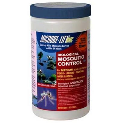 Ecological Labs (Microbe-Lift) Presents Mic Mosquito Control 6oz. Liquid Biological Mosquito Control Specially Formulated for Decorative Water Gardens, Fountains &amp; Areas where Standing Water Exists Microbe-Lift/Bmc Kills Developing Mosquitoes Before they Become Breeding, Biting Adults, Including Those which may Transmit West Nile Virus and Equine Encephalitis, and Those which may Transmit Heartworm Disease to Dogs and Cats. Microbe-Lift/Bmc is a Liquid Product, so it has no Adverse Effect on the Aesthetics of Ponds and Water Features Microbe-Lift/Bmc can be Applied to Areas that can Contain Aquatic Life, Fish and Plants. Microbe-Lift/Bmc can be Applied to Areas Used by or in Contact with Humans, Animals, Horses, Livestock, Pets, Birds or Wildlife. One Teaspoon Treats 540 Sq. Ft. Of Water in 'Total Water Column' Up to 14 Days Activity Depending on Application Site Disperses Easily in Water no Fish Toxicity no Toxicity to Non-Target Invertebrates Significantly Lower Potential for Development of Resistance in Target Insect Populations than Chemical Larvicides Such as Methoprene no Adverse Aesthetics to the Pond no Organic or Inorganic Residues [32727]