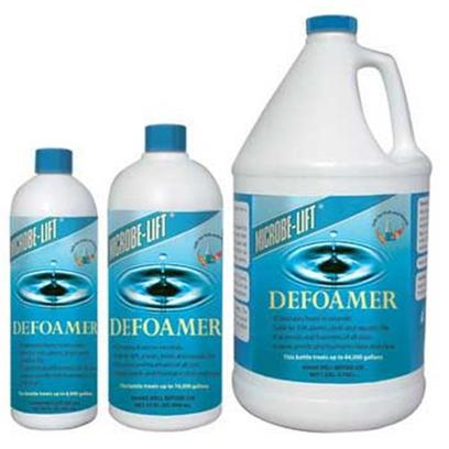 Ecological Labs (Microbe-Lift) Presents Mic Pond Defoamer 32oz. Eliminates Foam in Seconds! Microbe-Lift/Defoamer Gets Rid of Unsightly Foam Fast, Leaving Pond Water Clean and Clear. Persistent Foaming can Indicate a Heavy Concentration of Undissolved Organics. Partial Water Changes can Improve Water Quality which will Help Reduce Foaming. Leaves Pond and Fountain Water Clean and Clear for Ponds and Fountains of all Sizes Safe for Fish, Plants, Birds and Aquatic Life [32745]
