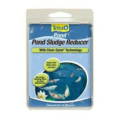 Tetra Usa Presents Tetra Pond Sludge Reducer Block 4pk. Keeps Water Cleaner and Clear by Breaking Down Organic Waste. Great to Use to Star New Pond. Spring Start Up and Fall Shut Down. Blend of Safe Bacteria and Enzymes for Natural Pond Balance 1 Block Treats 250 Galllons 4pk [32810]