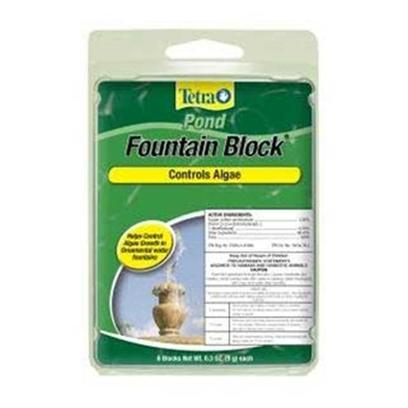 Tetra Usa Presents Tetra Anti-Algae Block Fountain 4pk Pond. Pond Anti-Algae Block Effectively Offers an Easy, Effective Way to Control and Prevent the Growth of Algae. Leaves Pond Water Crystal Clear. Helps Keep Pond Clear from Algae when Used Regularly. Pond Block is not Recommended for Lilies or Hyacinths. [32821]