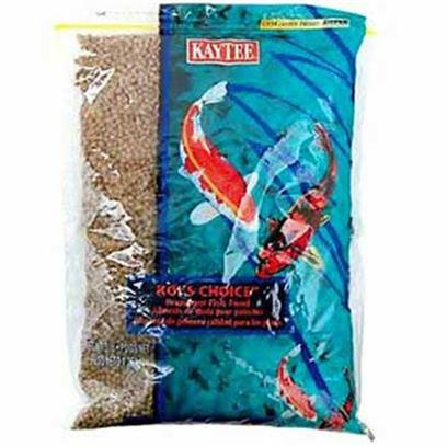 Kaytee Presents Kt Koi Choice Pellet Medium (Med) 3lb Bag-Medium. Comes in a Full Color Free Standing Resealable Bag. Economy Staple Food. Floating Pellet [32875]