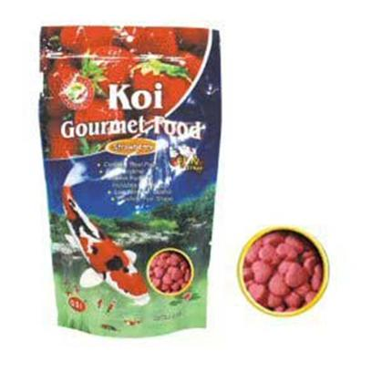 Ocean Star International Presents Ocean Star International (Osi) Koi Strawberry Flavor Treatment-8oz Large. Excellent to Supplement the Diet. Feed Anytime. Floating. Can be Fed Multiple Times a Day. Low Protein does not Stimulate Algae Growth. Fun Shapes. Vitamin Fortified Including Vitamin C. Comes Mixed in a Container or as Single-Flavor Pouches. [32905]