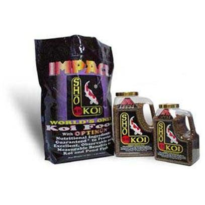 Total Koi Presents Sho Koi Impact Pellet Impact-Small Floating (2.6mm) 4lb. Sho Koi Premium Fish Food-&quot;Impact and Sho Gold&quot; are Made Specifically for Koi, Goldfish, and all Other Pond Fish. Sho Koi is Made in the Usa and is Veterinarian Recommended. This Product has all the Nutritional Ingredients Needed to Promote Excellent Health and Enhanced Immunity, Optimal Growth, Disease Resistance, and Vibrant Color. Sho Koi is Formulated for Superior Floatation, Complete Digestibility, Thus Water Clarity. Sho Koi Products do not Contain Artificial Color or Dye. [32927]