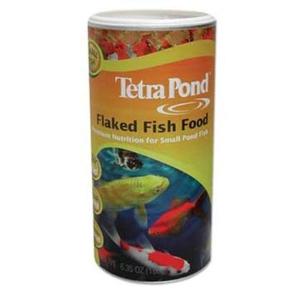 Tetra Usa Presents Tetra Pond Flake 6.35oz Food. Ideal for all Small Fish. Easily Digested. Feed in Spring, Summer and Fall, when Water Temperatures are 50 Degrees Fahrenheit and Above. Available in 6.35oz, 1l Container [32944]