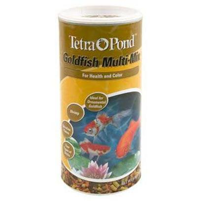 Tetra Usa Presents Tetra Pond Multi Mix Gld 4.9oz Multi-Mix Gold. Premium Blend of Four Types of Stick, Shrimp, and Spirulina-Enriched Flakes. Especially Formulated for Goldfish, Shubunkins, and Comets to Provide an Interesting and Varied Diet that Promotes Good Health, Longevity, Growth, and Color. 4.90 Oz Can [32945]