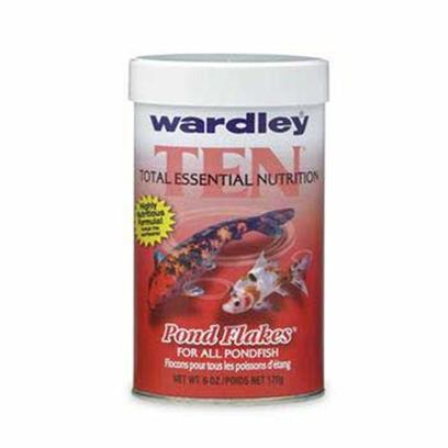 Wardley Presents Ward Pond 10 Flakes 6oz Ten. Wardley(R) Ten(Tm) (Total Essential Nutrition) Pond Flakes(Tm) is a Highly Nutritious Food for Goldfish and Koi in Outdoor Ponds. Fortified with Small, Whole Shrimp, Wardley(R) Ten(Tm) Pond Flakes(Tm) Contains a Stabilized Form of Vitamin C, which Aids in Normal Wound Healing, Disease Resistance and Bone and Gill Development. Note Overall Fish Health is Related to a Total Program of Good Nutrition and Good Water Quality and is not Solely a Function of any Individual Component. 6 Oz.; (170g) [32960]