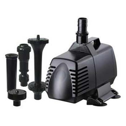 "Hampton Water Gardens Presents Hampton Water Gardens (Hwg) Pump/Fountain Head Kit Hwgk460 Pond Pump/Fountainhead 460gph. Kits will Work Well with any Small to Medium Size Installation Energy Efficient Magnetic Drive Submersible Use only Variable Flow Control Debris Reducing Pre-Filter Fish Safe 1 Year Warranty Maximum Flow - 1630 Gph Maximum Pumping Height - 12.5' Includes Bell, Fleur de Lis, Double Fleur de Lis and Bubbler Fountainheads Power 115v, 60hz, 145 Watts 15' Power Cord with Grounded Plug Discharge 3/4"" Barbed [33007]"