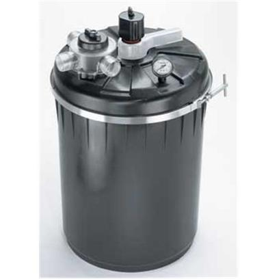"Supreme (Danner Inc) Presents Supreme (Danner Inc) (Sup) Pressurize Filter P-4000 4000gal. Gallon Capacity - 4000 for Use with Pumps of 1000 - 4000gph Max Pump Height 20' Agitator Unlocks Waste from Media Saving the Amount of Water Discharged During Backwash and Rinse Cycles Unique, Patent Pending 3-Way Master Valve Locks into ""Run"", ""Rinse"" and ""Backwash"" Settings Clear-Vue Inspection Port to Monitor Water Clarity During Backwash/Rinse Operation Positive Pressure Lock Ring to Ensure a Tight Water Seal Bio-Matrix Media Affords Maximum Surface Area for Beneficial Bacteria Growth Heavy Duty Poly Canister can be Buried for Hidden Installation Integrated Waterproof Uv Transformer Optional Field-Installed Bottom Drain Available (not Included) 1 1/2"" Threaded Fittings, Ball Valves for Waste Line and Swivel Fitting Included [33065]"