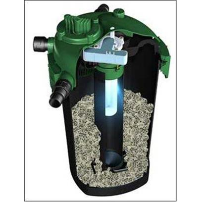 Tetra Usa Presents Tetra Pond Bio Active Pressure Filter with 18watt Uv Clarifier Bp-2500-Uv. New from Tetra, the Bio-Active Pressure Filter has been Re-Engineered for Maximum Bio Filtration Resulting in a Clear and Healthy Pond. New Vortex Internal Pumping Jets Ensure Maximum Water-to-Media Contact to Support Bacterial Growth and Provide for Superior Bio-Activity. The Rugged Construction of this Filter is Built to Last. The Unique Open Profile Bio-Activators will not Clog and Give you the Most Surface Area Possible. With no Foam to Clog, the Simple Back Flush Feature Keeps your Filter Performing in Peak Condition with no Need to Open the Filter for Cleaning. [33098]